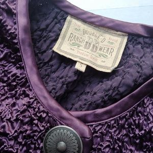 Double D Ranch Jackets & Coats - Double D Ranch Textured Plum Cropped Jacket